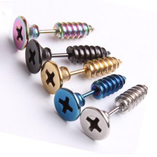 Screw Style Earrings for Men