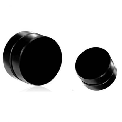 Black Magnetic Stud Earrings for Men