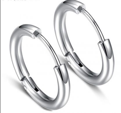 Men's silver hoop earrings