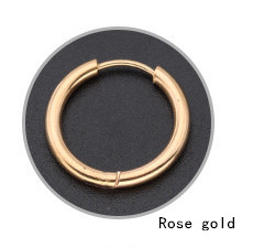 Rose Gold Hoop Earrings for Men