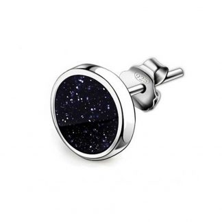 Beautiful black stone earrings for men